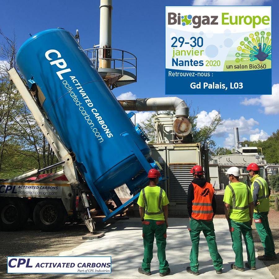 CPL Activated Carbon a Biogaz Europe, Nantes Janvier 2020