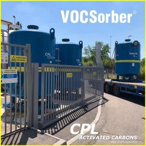 l'échange de quelques filtres VOCSorber® de 5 m3 dans une installation de biométhane dans une station d'épuration